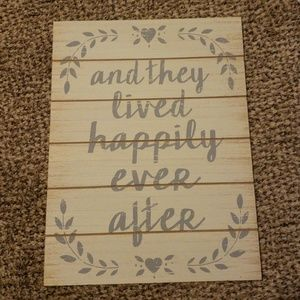 Wedding sign happily ever after sign
